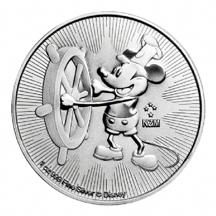 2017 Silver 1oz Steamboat Willie